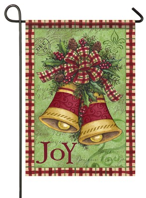 Joy, Christmas Bells Flag, Small  -     By: Tina Wenke