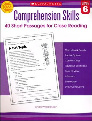 Comprehension Skills: Short Passages for Close Reading: Grade 6  -     By: Linda Beech