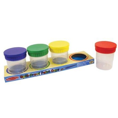 Spill-Proof Paint Cups - Set of 4  -     By: Melissa & Doug