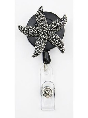 Starfish, Pewter Badge Holder  -