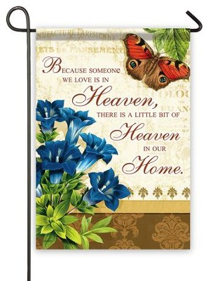Heaven In Our Home Flag, Small  -     By: Joy Hall