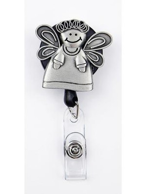 Angel, Pewter Badge Holder  -