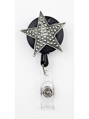 Star, Pewter Badge Holder  -