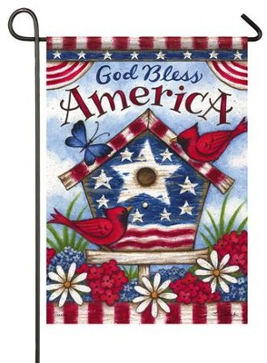 God Bless America, Small Flag  -     By: Tina Wenke