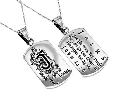 Jesus, Letter Dog Tag   -