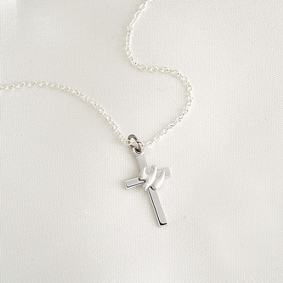 Cross with Dove Necklace  -