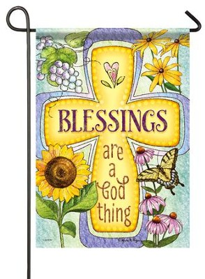 Blessings are a  God Thing, Flag, Small   -     By: Anita M. Meyer