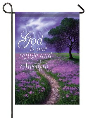 God Is Our Refuge And Strength, Small Flag  -     By: Jon Rattenburg