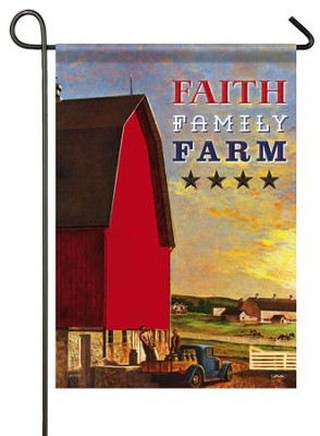 Faith, Family, Farm, Small Flag  -     By: John Atherton
