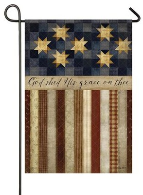 God Shed His Grace On Thee, Small Flag   -     By: Beth Albert