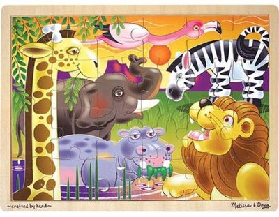 African Plains Jigsaw Puzzle (24 pc)   -     By: Melissa & Doug