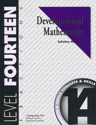 Developmental Math, Level 14, Solution Manual   -     By: L. George Saad