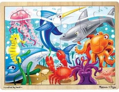 Under the Sea Jigsaw Puzzle (24 pc)   -     By: Melissa & Doug