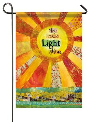 Let Your Light Shine, Small Glitter Flag  -     By: Sue Zipkin
