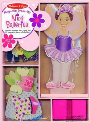 Nina Ballerina Magnetic Dress-Up  -     By: Melissa & Doug