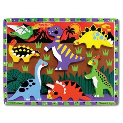 Dinosaurs Chunky Puzzle  -     By: Melissa & Doug