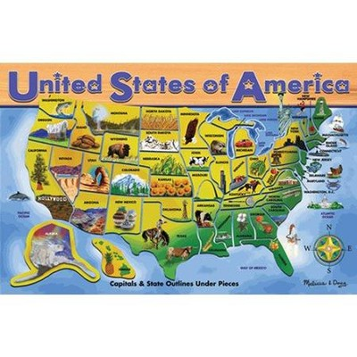 USA Map Puzzle                                                               -     By: Melissa & Doug