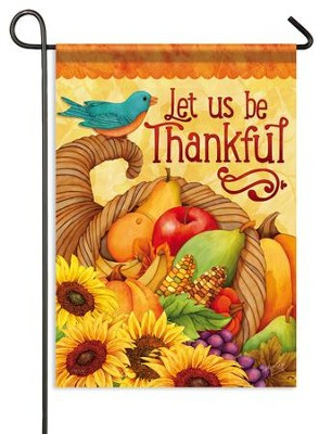 Let Us Be Thankful, Small Flag  -     By: Joy Hall