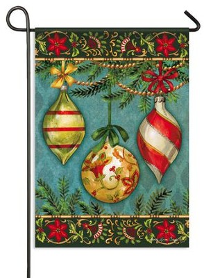 Glittering Ornaments Flag, Small  -     By: Sandy Clough