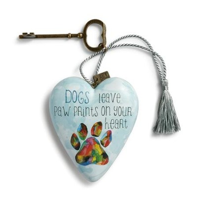 Dogs Leave Paw Prints On Your Heart, Art Heart  -