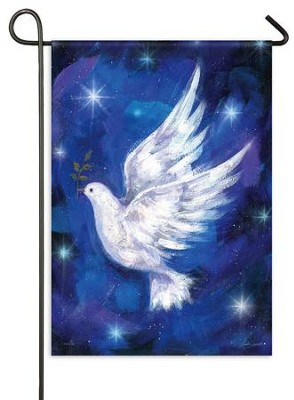 Christmas Dove, Small Glitter Flag  -     By: Sarah Summers
