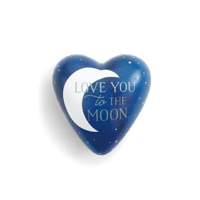 Love You to the Moon, Art Heart Token  -