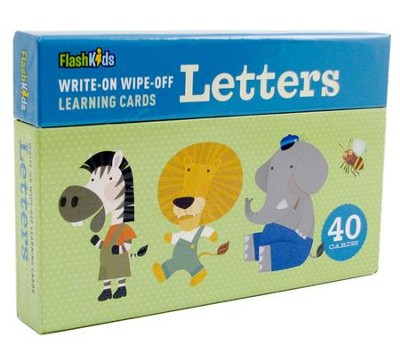 Write-On-Wipe-Off Learning Cards: Letters  -