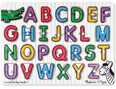 See-Inside Alphabet Peg Puzzle   -     By: Melissa & Doug