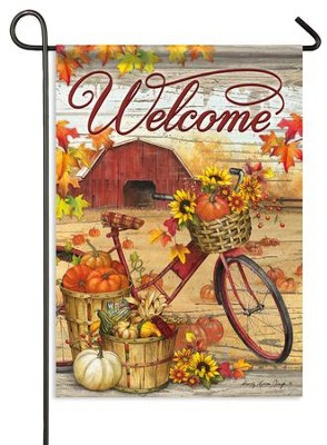 Fall Farm Welcome, Small Flag  -     By: Sandy Clough