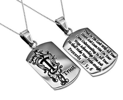 Trust, Letter Dog Tag   -