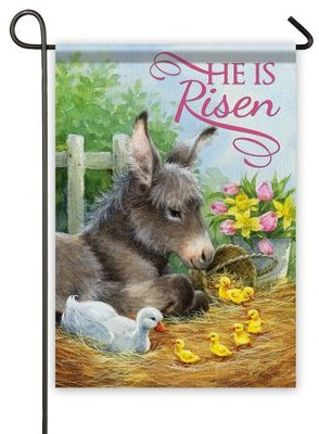 He Is Risen, Donkey Flag, Small  -     By: Hazel Lincoln