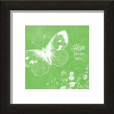 Hope Gives You Wings, Butterfly Framed Art  -