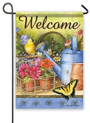 Welcome, Planting Time Flag, Small  -