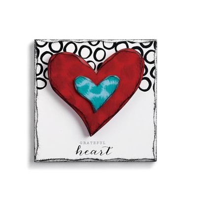 Grateful Heart Wall Art  -     By: Tracy Pesche