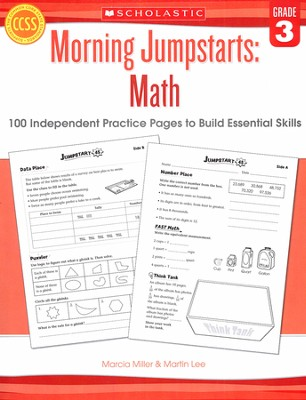 Morning Jumpstarts, Math Grade 3: 100 Independent Practice Pages to Build Essential Skills  -     By: Martin Lee, Marcia Miller