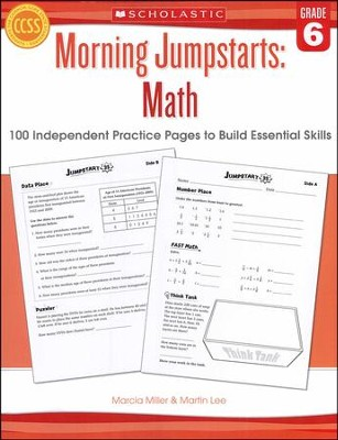 Morning Jumpstarts, Math Grade 6: 100 Independent Practice Pages to Build Essential Skills  -     By: Martin Lee, Marcia Miller