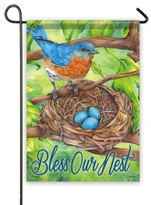 Bless Our Nest Flag, Small  -     By: Alex Zsolt