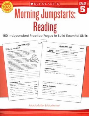 Morning Jumpstarts, Reading Grade 5: 100 Independent Practice Pages to Build Essential Skills  -     By: Martin Lee, Marcia Miller