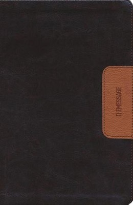 Message Slimline Bible--soft leather-look, brown/tan  -     By: Eugene H. Peterson