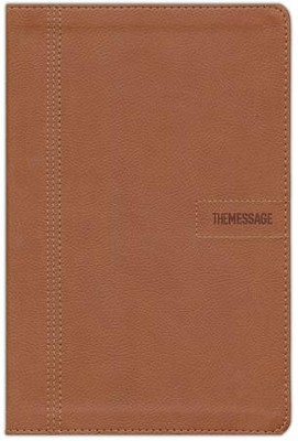 Message Slimline Bible--soft leather-look, brown  -     By: Eugene H. Peterson