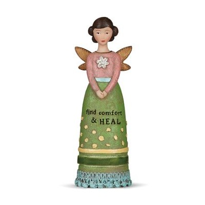 Find Comfort and Heal, Winged Angel Figurine  -     By: Kelly Rae Roberts
