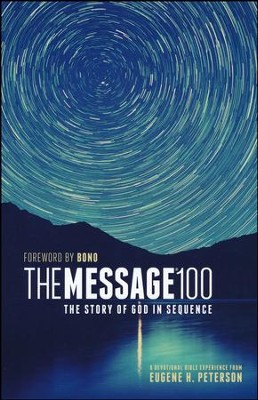The Message 100 Devotional Bible: The Story of God in Sequence, softcover  -     By: Eugene H. Peterson