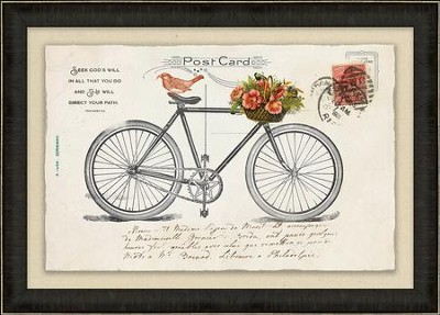 Seek God's Will in All that You Do, Proverbs 3:4, Bicycle, Framed Art  -