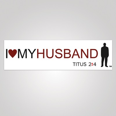 I Love My Husband Bumper Sticker, Large  -