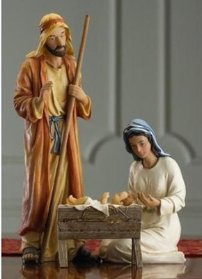 Real Life 10-inch Size Nativity 4 Pieces   -