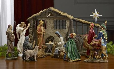 Real Life Nativity Set, Complete Collection, 10.25    -