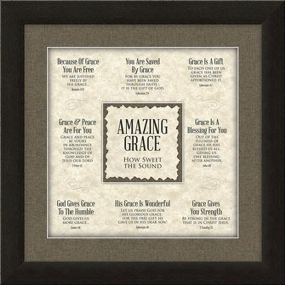 Amazing Grace, How Sweet the Sound, Framed Art  -