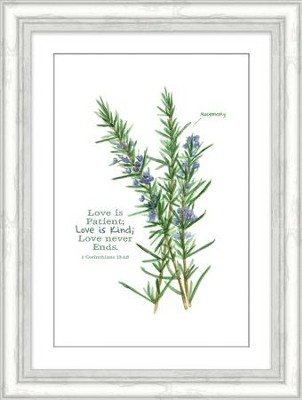 Love is Patient; Love is Kind; 1 Corinthians 13:4,8, Framed Art  -
