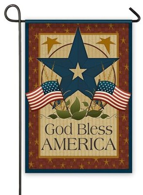 God Bless America, Barn Star, Flag, Small  -     By: Angela Anderson