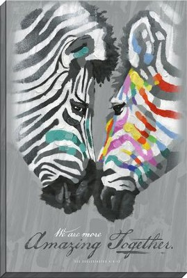 We Are More Amazing Together, Zebra Canvas Art, Ecclesiastes 4:9-12  -